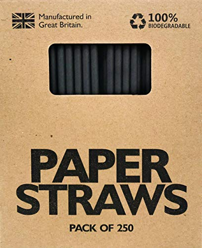 Halloween In The Usa (Paper Drinking Straws 250 Pack Biodegradable Assorted Colors)