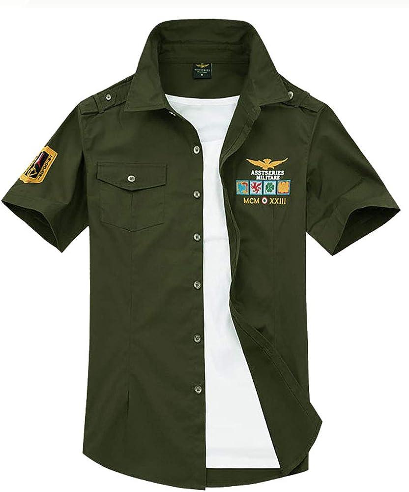Star-bw Camisa Hombre Militar Manga Corta gant Juvenil Slim fit ...