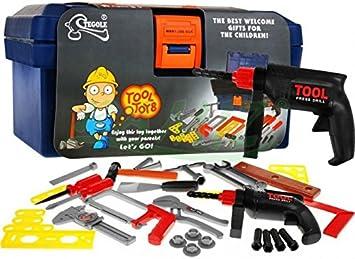 Caja de Herramientas Juguete con Accesorios Infantil: Amazon.es ...