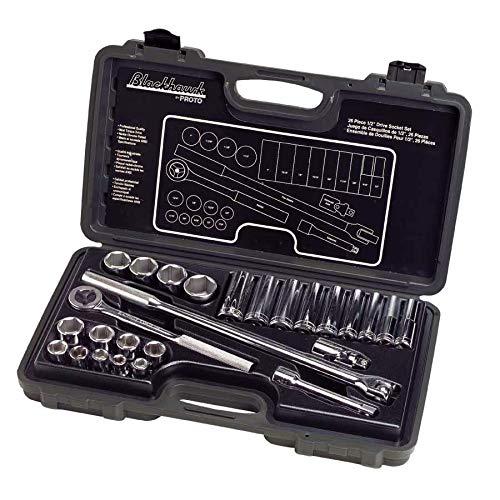 Blackhawk By Proto 1226NB 6-Point Drive Socket Set, 1/2-Inch, 26-Piece - Blackhawk Wrench Ratchet