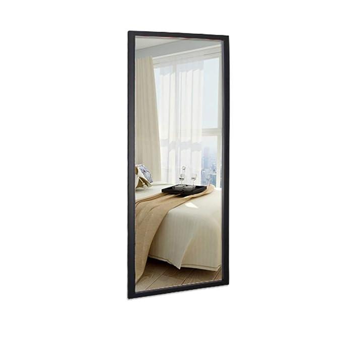 Espejos de Suelo Mir Espejo de Cuerpo Entero de pie colgado o Inclinado contra la Pared Espejo Rectangular Grande para el Piso del Espejo del Dormitorio L0416 Color : Blanco, Tama/ño : 40 * 120cm