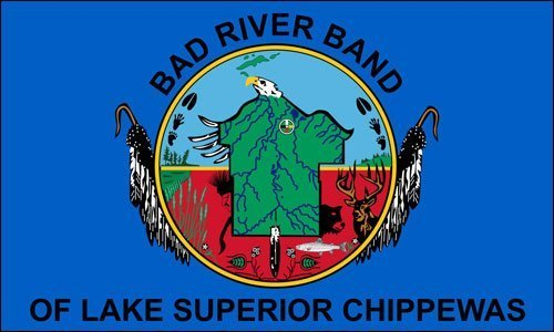 Bad River Band of Lake Superior Chippewas Flag Sticker Decal (tribe native indian) 3 x 5 inch (Bad River Band Of Lake Superior Chippewa Indians)
