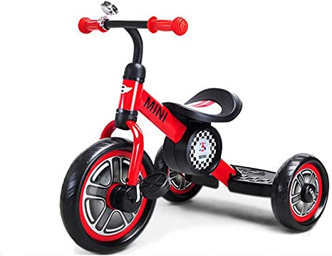 Bicicleta de triciclo para niños Hombres y mujeres Bebé 1-5 Bicicleta de juguete para niños (Color : Red): Amazon.es: Bebé