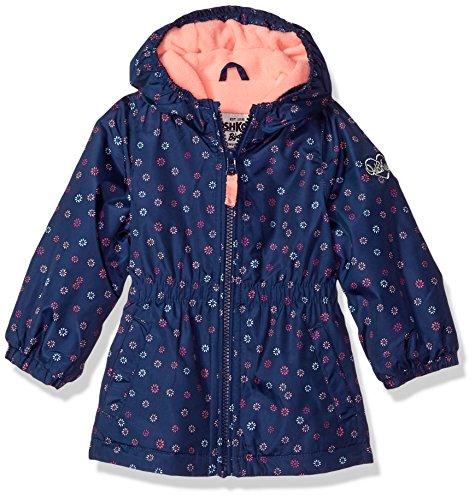 Price comparison product image OshKosh B'Gosh Osh Kosh Baby Girls Fleece Lined Midweight Windbreaker Jacket, Navy Floral, 18M