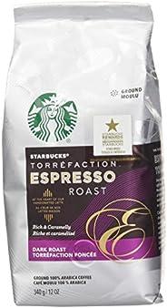 Starbucks Espresso Roast Ground Coffee 340 Grams (Pack Of 6), Espresso Dark Roast, 6 Count
