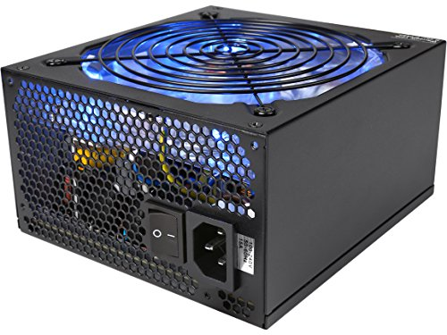 Rosewill Gaming Power Supply / PSU, 1000 Watt (1000W) 80 PLUS Bronze Certified PSU with Silent and Blue LED 135mm Fan and Auto Fan Speed Control, Semi-modular Design, RBR-1000MS by Rosewill