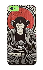 MEBfdUE2831HvTaf Hot Fashion Design Case Cover For Iphone 5c Protective Case (meditating Monkey)