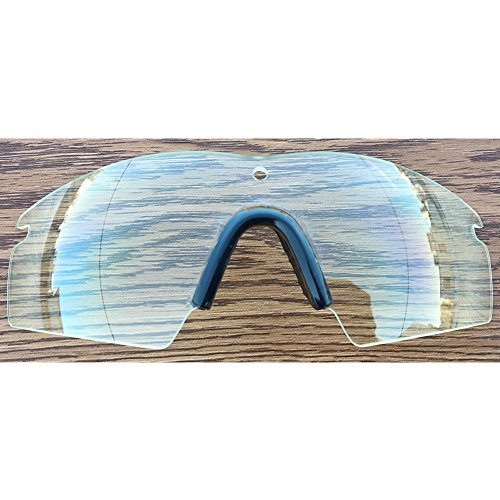 Inew clear Replacement Lenses For Oakley M Frame 3.0 with black nose - Lens Frame Oakley M Clip