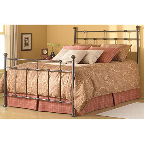Fashion Bed Group 3/3 Dexter Decorative Metal Castings and Globe Finials, Hammered Brown, Twin For Sale