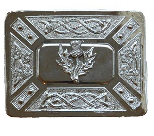Scottish Kilt belt buckle #6 chrome finish (Chrome)