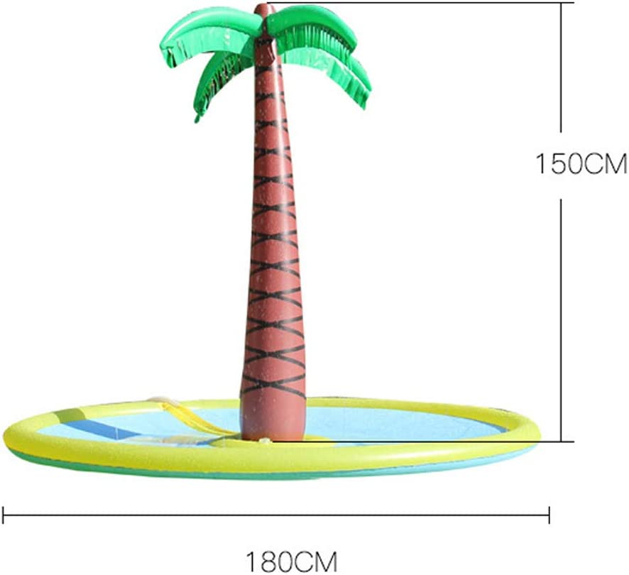 Soyoekbt Inflatable Palm Tree Yard Sprinkler Toy,Kids Spray Water Toy Outdoor Pa