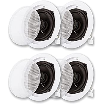 Acoustic Audio R191 in Ceiling//in Wall Speaker 3 Pair Pack 2 Way Home Theater 1200 Watt R191-3PR