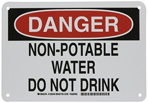 Brady 126348 Chemical and Hazard Sign, Legend
