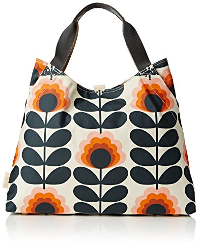 Orla Kiely Summer Flower Stem Holdall, Sunset by Orla Kiely
