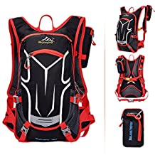 Waterproof Nylon Outdoor Backpack Biking Cycling Riding Daypack Backpack Basketball Bag Motorcycle Helmet Bag By Q&S Life