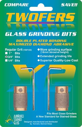 Aanraku Glass Grinding Bit 3/4 Inch Twofers Stained Glass Mosaic Supplies (Glass Grinder Bits compare prices)