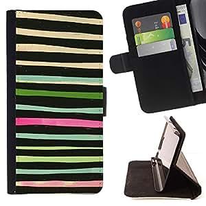 Momo Phone Case / Flip Funda de Cuero Case Cover - Mano dibujar líneas horizontales del inconformista - Sony Xperia Z3 Compact