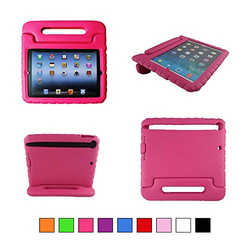 TCD for Apple iPad Mini 1 2 3 with Retina Display HOT PINK iPad Case for Kids Safe Shockproof Protective Stand Light Weight Kids Foam Cover (FREE SCREEN PROTECTOR & STYLUS PEN) (Hot Pink Ipad 2 Case compare prices)