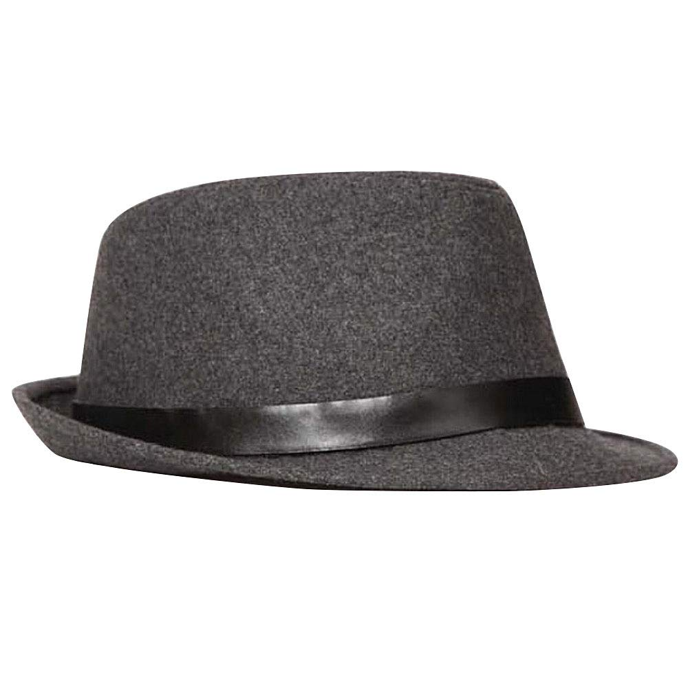 OLIS, Cappello Fedora Feltro Uomo Classique Borsalino Panama Jazz Trilby Cappelli Black-OneSize PINGGU