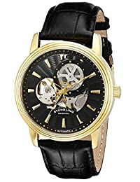 Stuhrling Original Men's Acheron Automatic Skeleton Watch Black 1076.33351