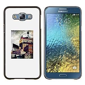 TECHCASE---Cubierta de la caja de protección para la piel dura ** Samsung Galaxy E7 E700 ** --Arquitectura Ciudad Pintura Arte