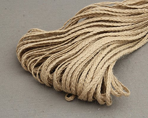 10 Meter/lot Natural Hessian Fabric Jute Twine Rope Burlap Ribbon DIY Craft Vintage Wedding Christmas Party Decor ZG00049 (Estimator Ruler)