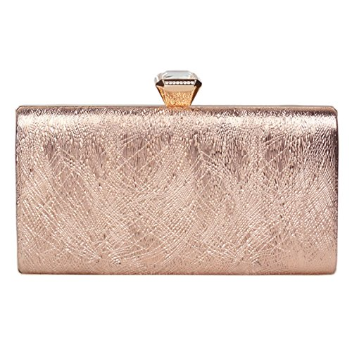 Glitter Clutch Women's Evening Damara Crystals Champagne Box Stylish Bag xvwqqZ6