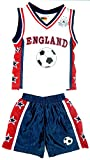 KIDS CHILDREN'S BASKETBALL SETS KITS 2 PIECE SET T SHIRTS/VEST TOPS SHORTS NEW YORK, CHICAGO, NEW JERSEY, BOSTON, HAWAII, TEXAS, OLYMPIA, MIAMI AGES 6 months to 12 years (AGE 4, ENGLAND KIT)