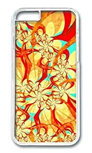 Adorable abstract dance art multicolor patterns surface Hard Case Protective Shell Cell Phone Cover For Apple Iphone 6 Plus (5.5 Inch) - PC Transparent