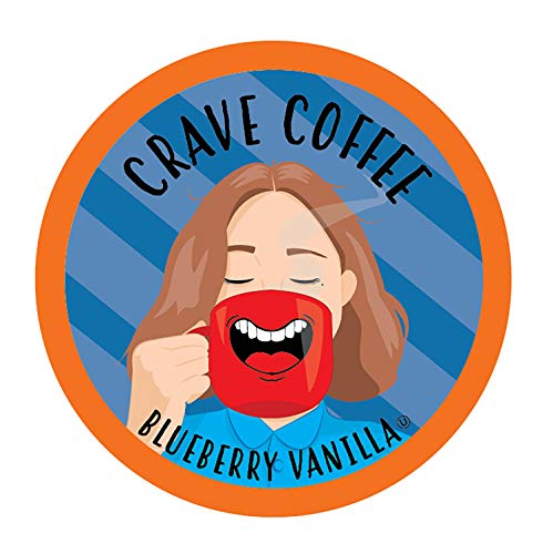 Crave Flavored Coffee Pods, Compatible with 2.0 K-Cup Brewers, Blueberry Vanilla, 40 Count (Best Blueberry Coffee Cake)