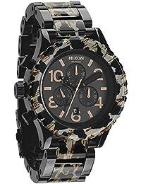 42-20 Chrono Watch All Black/Leopard, One Size