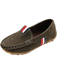 PPXID Girl's Boy's Slip-on Loafers Casual Moccasin Oxford Flat Shoes(Toddler/Little Kid)