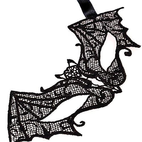 Monbedos Bat Lace Masquerade Mask Makeup Mask Face Eye Mask for Halloween CarnivalParty Mardi Gras -