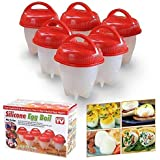 Egg Cooker Hard & Soft Maker Egg Cooker,BPA Free, Non Stick Silicone, As Seen On TV Hardboiled System Cups-Silicone…