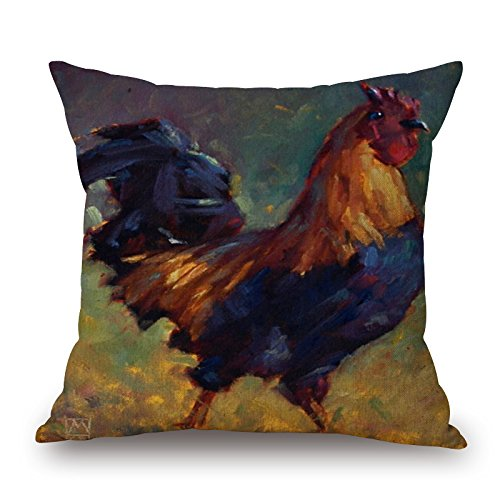 Loveloveu Chicken Pillow Cases ,best For Bedding,car,drawing Room,car Seat,sofa,saloon 18 X 18 Inches / 45 By 45 Cm(2 Sides)