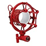 Water & Wood White/Black/Red Universal Microphone Holder Shock Mount Shockmount Cradle Clip Stand Bar Concert