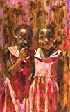 Giggling Girls from Ghana, Original Watercolor Painting, 21 X 29 Inches