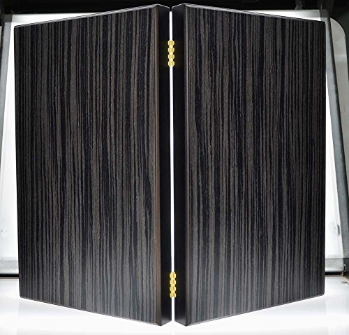 Argento Black Silver Backgammon Set - Hand Made Walnut Wood - Red inside