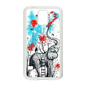 Vintage Elephant Samsung Galaxy S5 Case Rubber Back Fits Cover