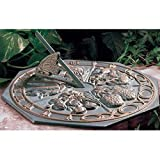 Whitehall Products Butterfly Sundial, French Bronze