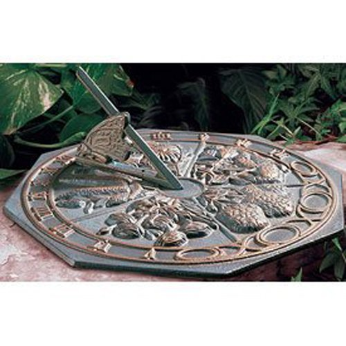 Whitehall Products Butterfly Sundial, French (Whitehall Bronze Sundial)