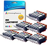 30 (6 SETS) Compatible PGI-520 CLI-521 Ink Cartridges for Canon Pixma MP540 MP540x MP550 MP560 MP620 MP620b MP630 MP640 MP980 MP990 MX860 MX870 iP3600 iP3680 iP4600 iP4680 iP4700 - Black/Photo Black/Cyan/Magenta/Yellow, High Capacity