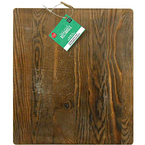 Lara's Crafts Large Chunky Wood Hanging Rectangle with