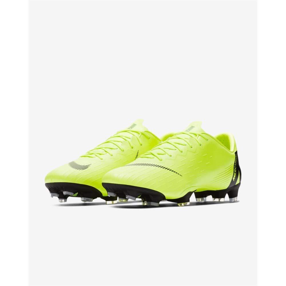 best sneakers 19d52 e7829 NIKE Men s Mercurial Vapor 12 Pro FG Soccer Cleats (Volt Black)   Amazon.co.uk  Shoes   Bags