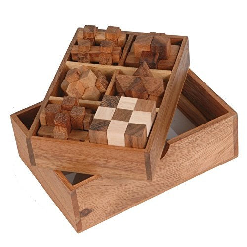 BRAIN GAMES 6 Wooden Puzzle Gift Set