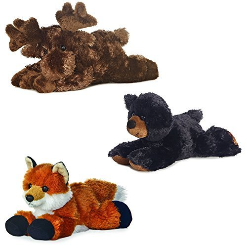 Aurora Maxa Moose Sullivan Black Bear Foxie Fox Mini Flopsie 8