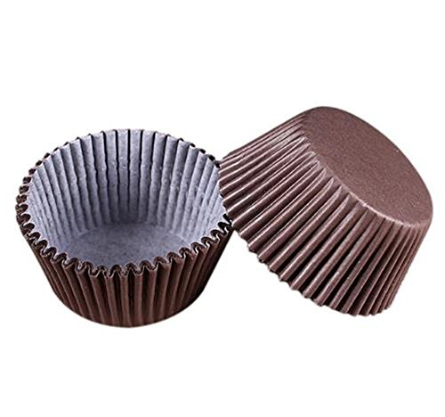 (100 PCS Cake Paper Cups Paper Baking Cups Colorful Premium Greaseproof Cupcake Liners Baking Utensils Oil-Proof Chocolate Paper Tray)