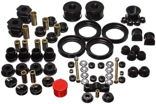 Energy Bushings Suspension Crx (Energy Suspension 16.18110G Bushings - Energy Suspension Hyperflex Bushing Kits Bushing Kit - Polyurethane - Black - Honda - Civic - Kit)