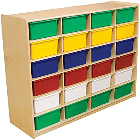 Wood Designs 24 Letter Tray Storage Unit With 5 In Trays
