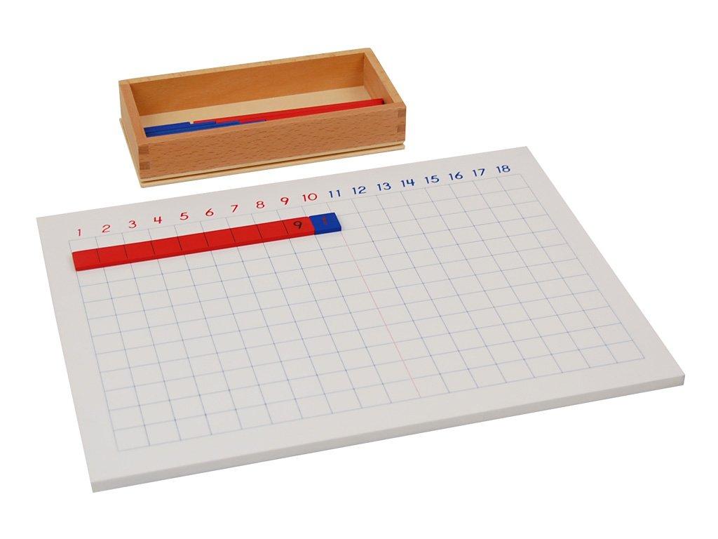 LEADER JOY Montessori Math Materials Addition Strip Board for Preschool Early Learning Tool